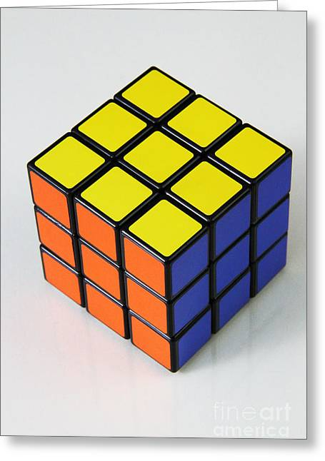 Rubiks Cube Greeting Card by Photo Researchers, Inc.