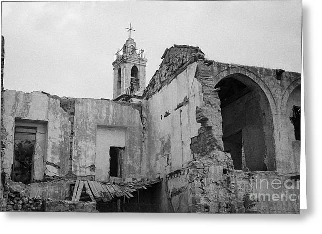 Ruins In The Grounds Of The Armenian Church And Monastery Of Notre Dame De Tyre Nicosia  Greeting Card by Joe Fox