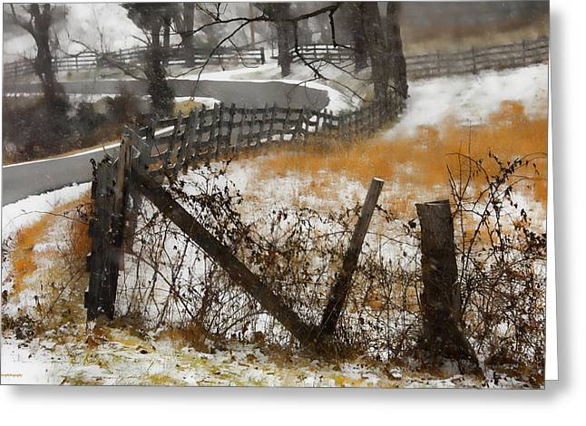 Rural Route Greeting Card by Ron Jones