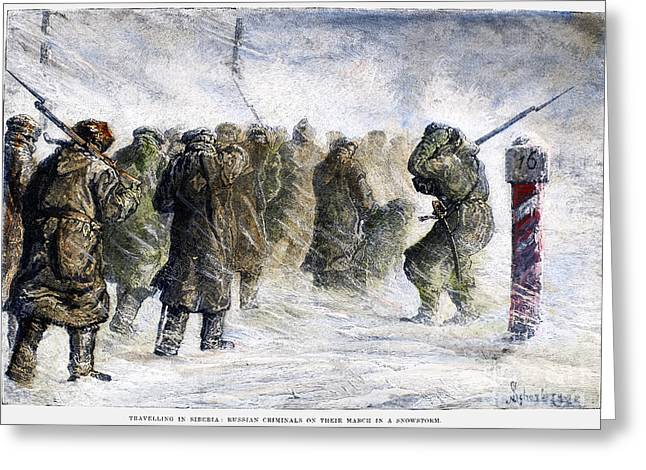 Russia: Siberia, 1882 Greeting Card by Granger