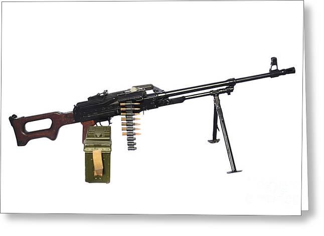Russian Pkm General-purpose Machine Gun Greeting Card