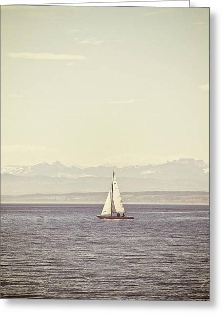 Sailing Boat Greeting Card by Joana Kruse