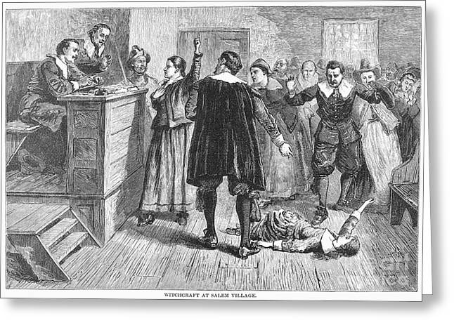 Salem Witch Trials, 1692 Greeting Card