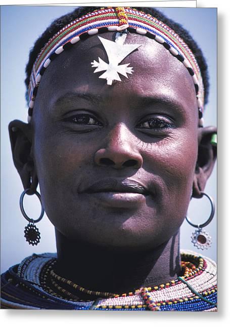 Samburu Maiden In Kenya Greeting Card