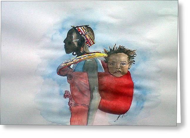 Samburu Tribe IIi. Greeting Card by Paula Steffensen