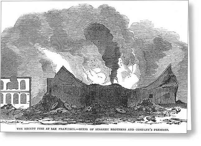 San Francisco: Fire, 1851 Greeting Card by Granger