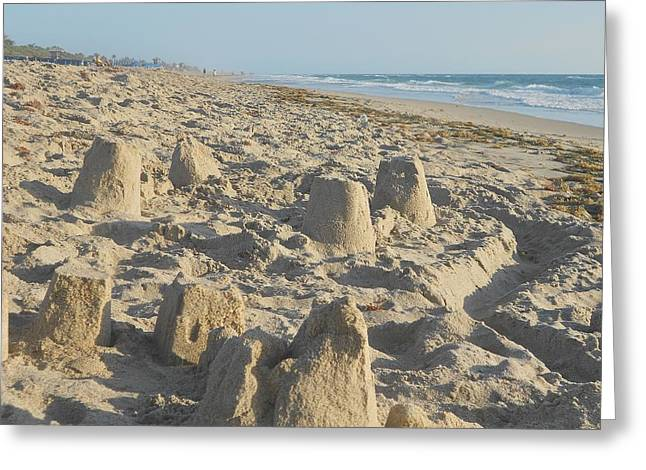 Sand Play Greeting Card by Sheila Silverstein