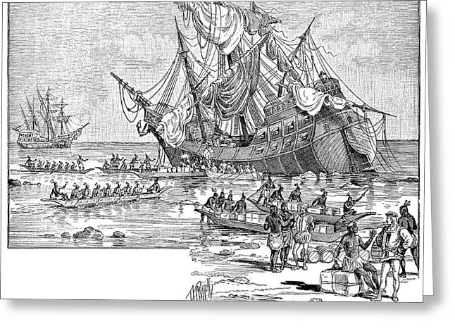 Santa Maria: Wreck, 1492 Greeting Card