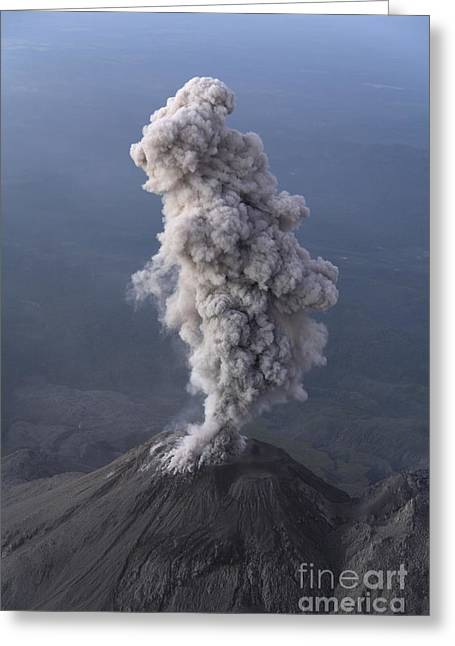 Santiaguito Ash Eruption, Guatemala Greeting Card by Martin Rietze