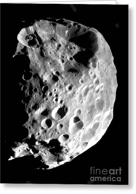 Saturns Moon Phoebe Greeting Card