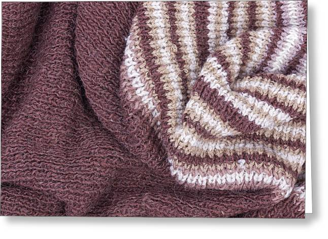 Scarf From Wool Manual Are Viscous Greeting Card by Aleksandr Volkov