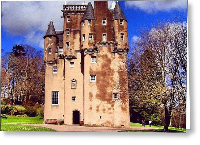 Scottish Castle Greeting Card by Luisa Azzolini
