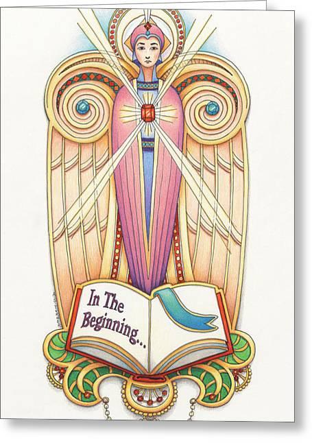 Scroll Angel - Ionica Greeting Card