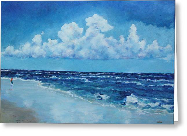 Sea And Sky Greeting Card by Robert Henne