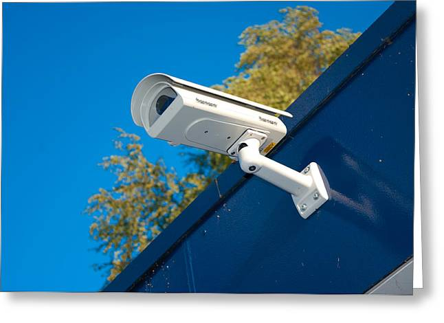Security Camera Greeting Card by Hans Engbers