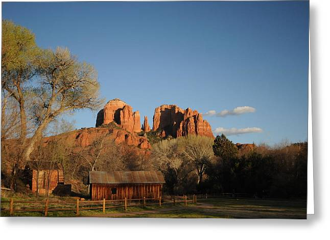 Sedona 014 Greeting Card by Earl Bowser