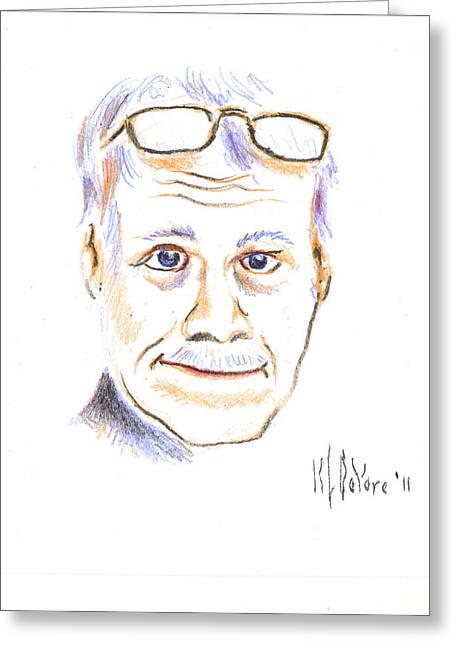 Self-portrait Greeting Card by Kip DeVore