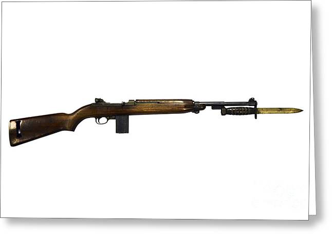Semi-automatic M1 Carbine Greeting Card by Andrew Chittock