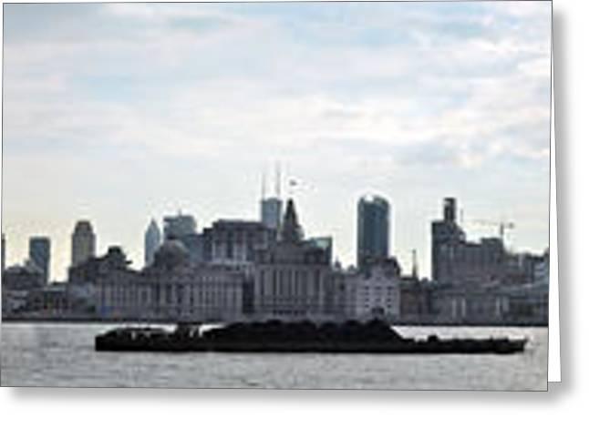 Shanghai Bund Panorama - Daytime Greeting Card