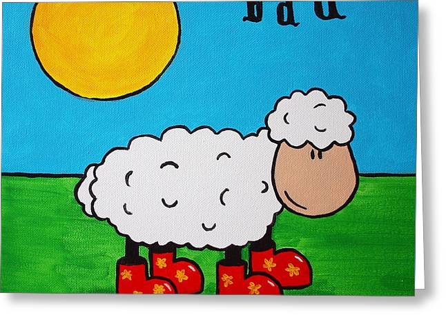 Sheep Greeting Card by Sheep McTavish