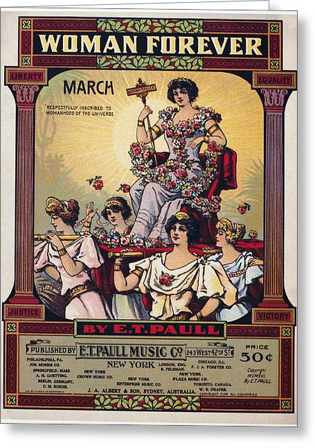 Sheet Music Cover, 1916 Greeting Card by Granger