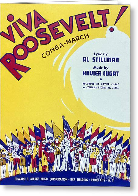 Sheet Music Cover, 1942 Greeting Card