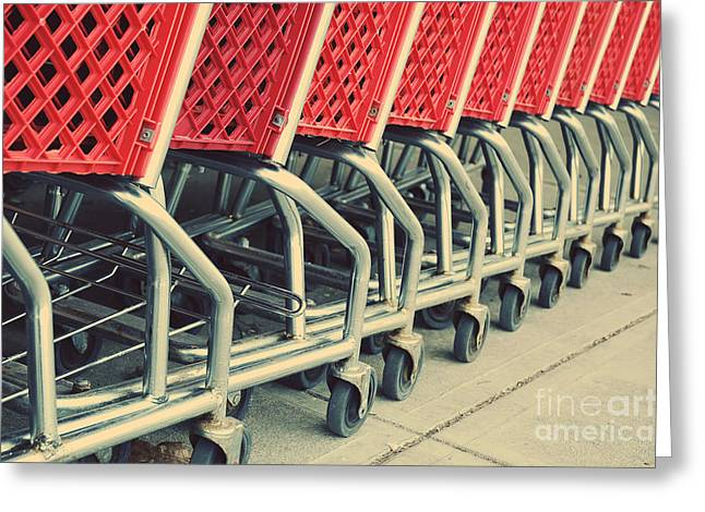 Shopping Carts Greeting Card