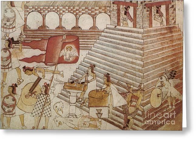 Siege Of Tenochtitlan 1521 Greeting Card