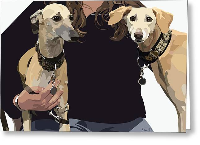 Sighthounds II Greeting Card