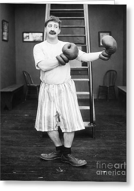 Silent Film Still: Boxing Greeting Card by Granger