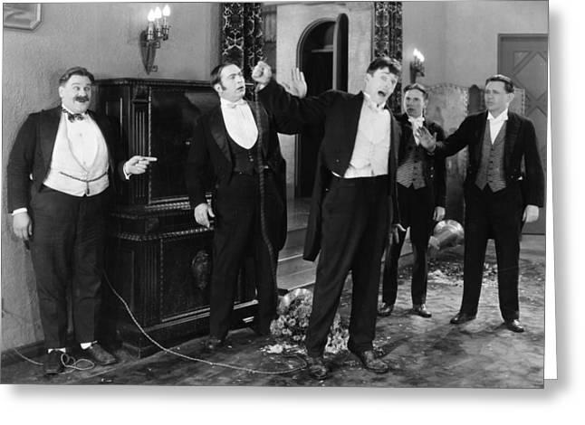 Silent Still: Group Of Men Greeting Card by Granger