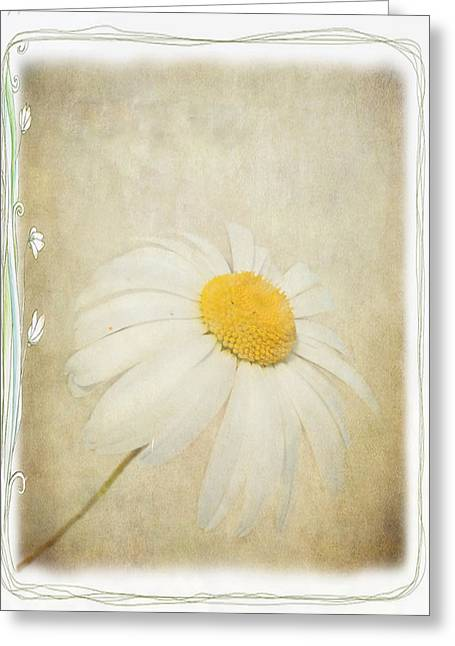 Simple Daisy Greeting Card by Julie Williams