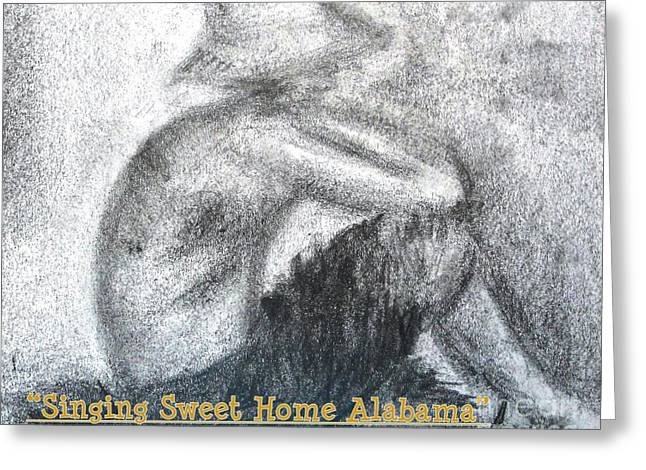 Singing Sweet Home Alabama Greeting Card by Helena Bebirian