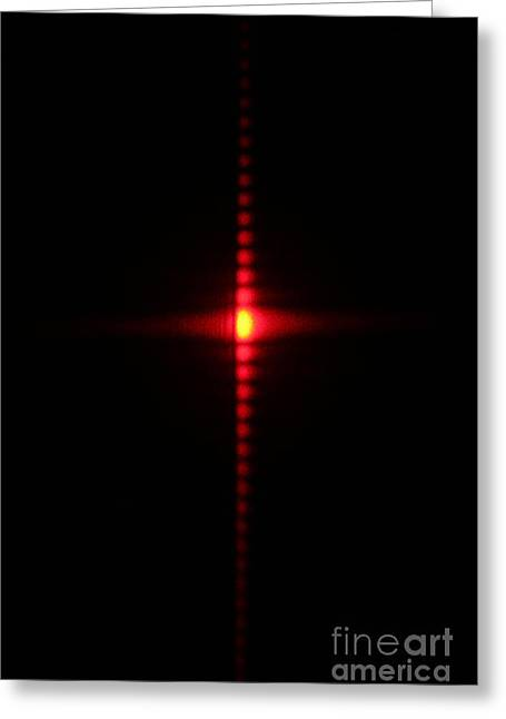 Single Slit Diffraction Greeting Card by Ted Kinsman