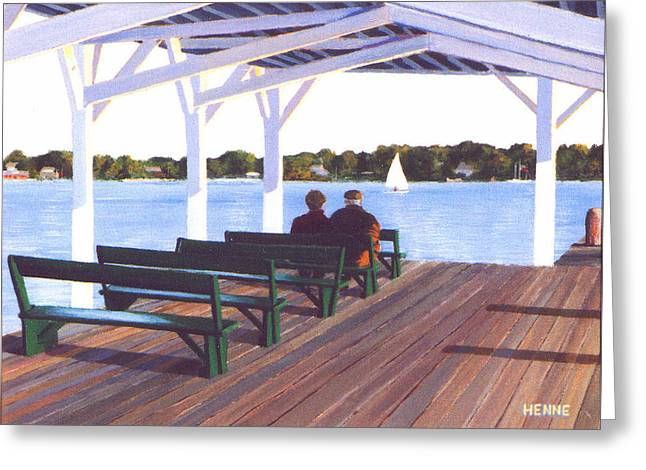 Sitting By The River Greeting Card