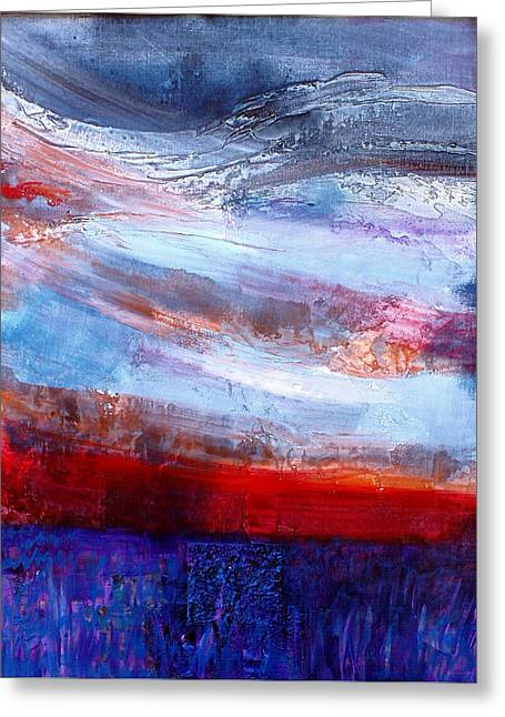 Greeting Card featuring the mixed media Sunset Sky by Walter Fahmy