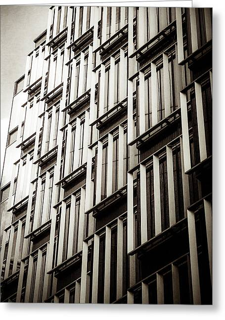 Slatted Window Architecture Greeting Card by Lenny Carter