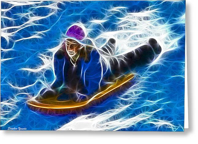 Sledding Greeting Card by Stephen Younts
