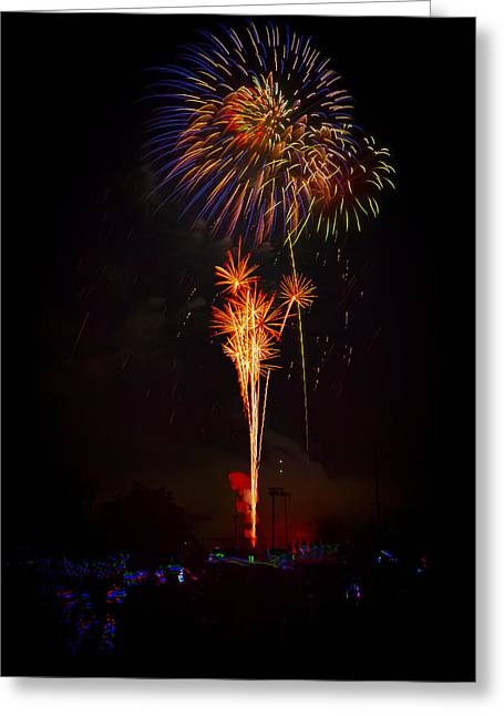 Small Town Celebration Greeting Card by David Hahn