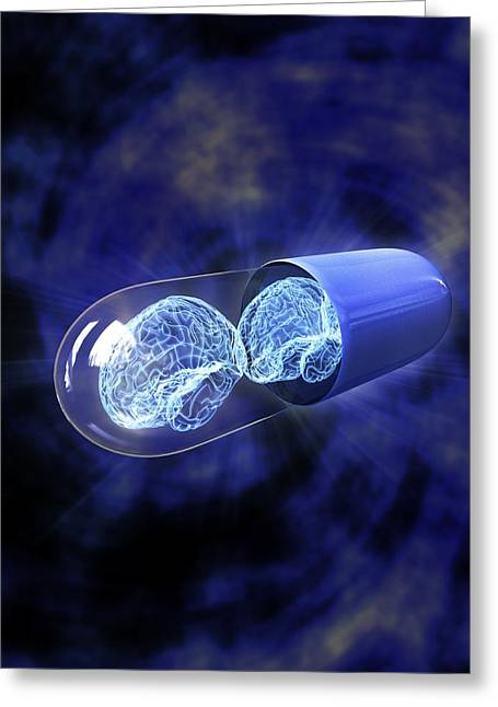 Smart Pill, Artwork Greeting Card by Equinox Graphics