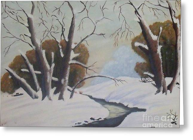 Snow Greeting Card by Debra Piro