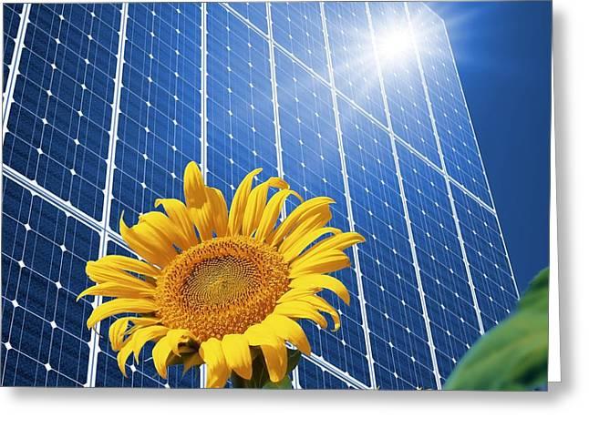 Solar Power, Conceptual Artwork Greeting Card