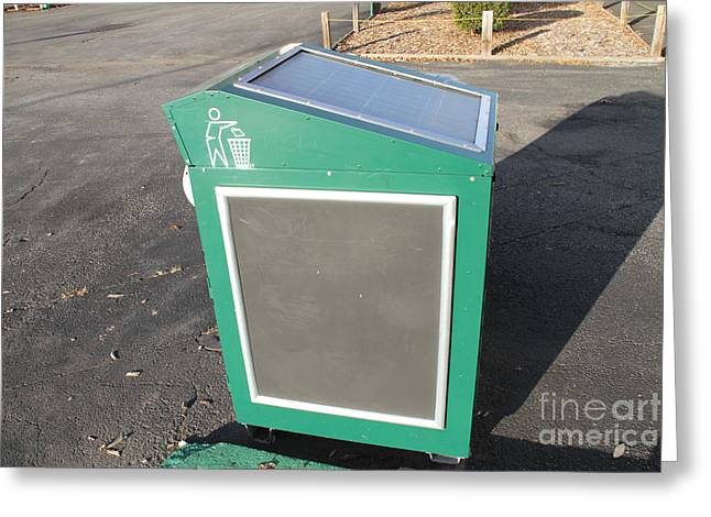 Solar Powered Trash Compactor Greeting Card by Photo Researchers, Inc.