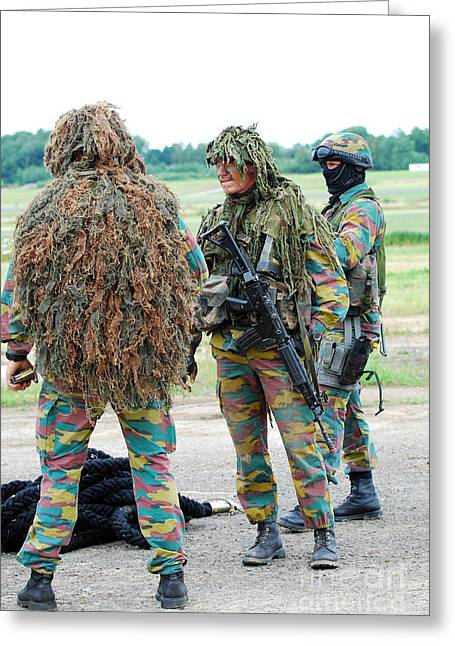 Soldiers Of The Special Forces Group Greeting Card by Luc De Jaeger