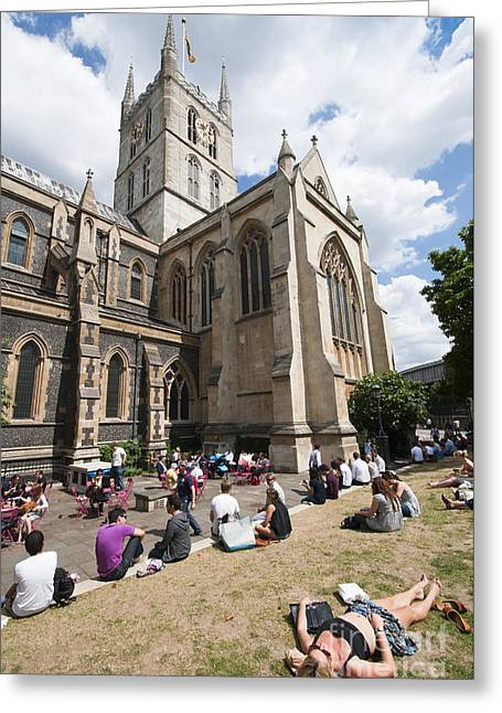Southwark Cathedral Greeting Card by Andrew  Michael