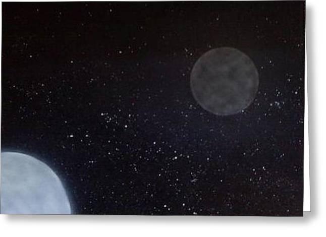 Space Greeting Card by Dan Schaffer