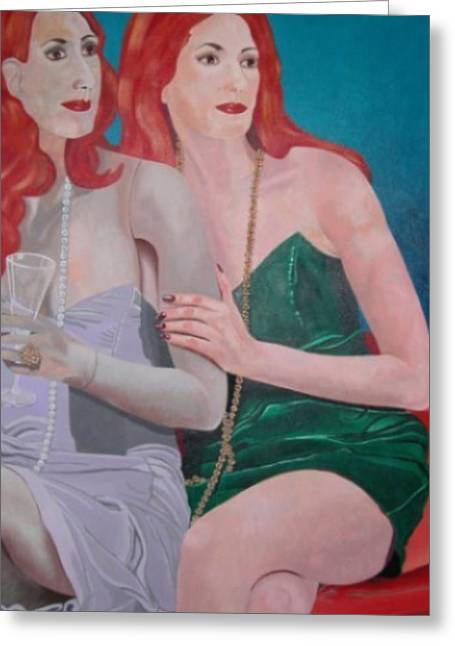 Split Personality Greeting Card by Beckie Wilson