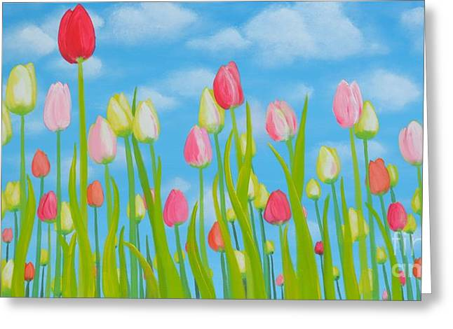 Spring Festival Greeting Card by Holly Donohoe