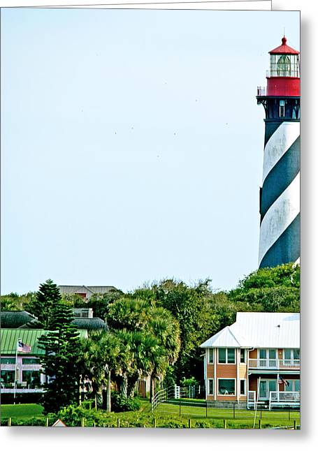 St. Augustine Lighthouse Greeting Card by Kenneth Albin