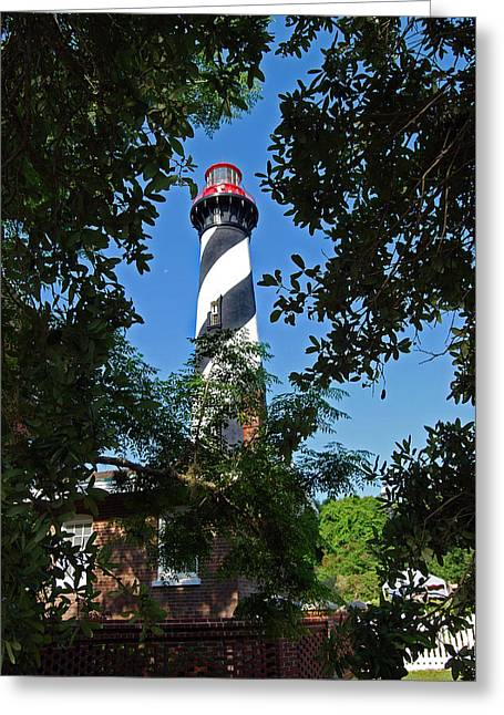 St Augustine Lighthouse Greeting Card by Skip Willits